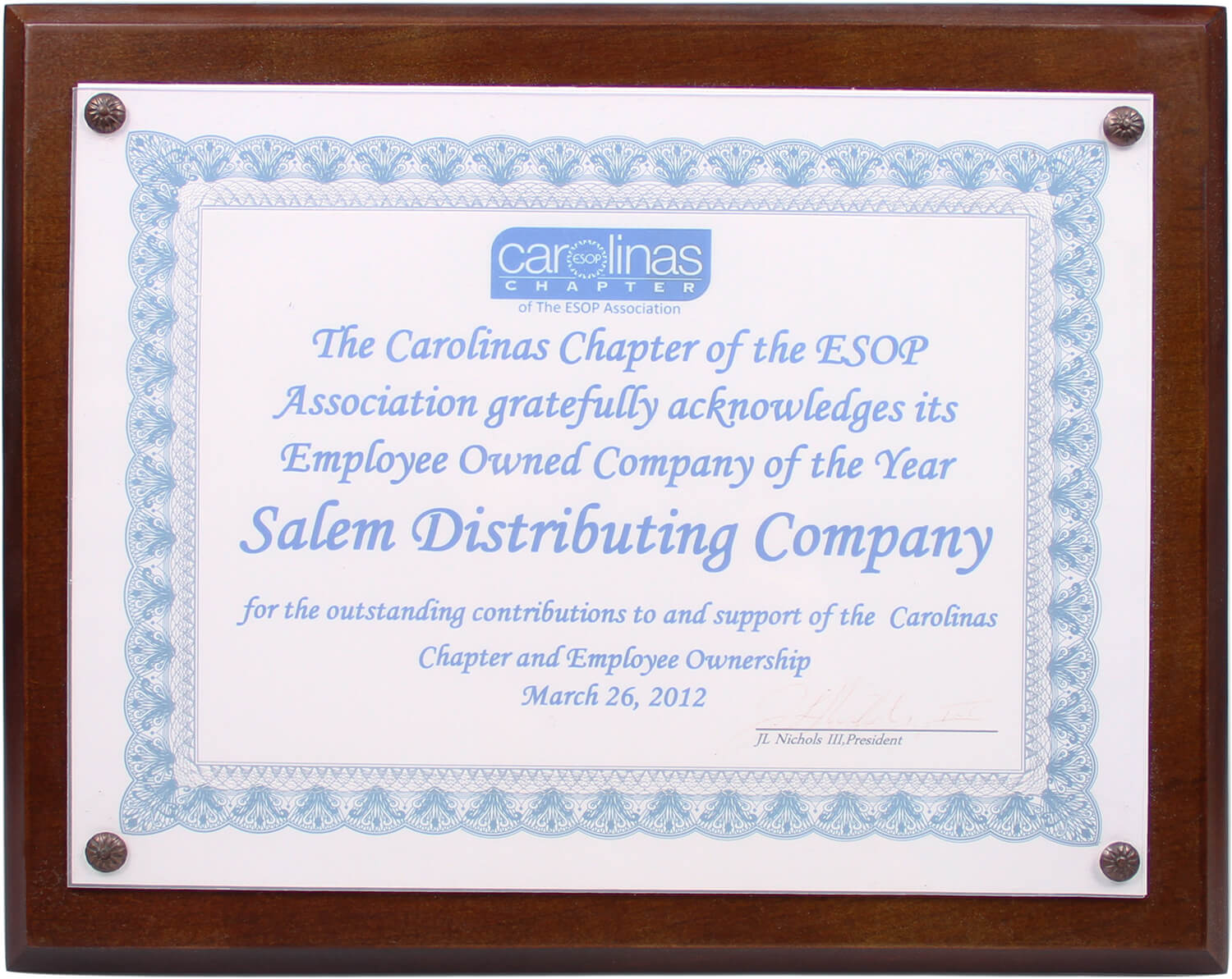 ESOP Company of the Year 2012